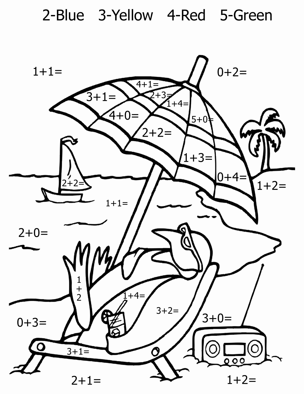Addition Coloring Worksheets for Kindergarten Luxury Free Printable Math Coloring Pages for Kids Best