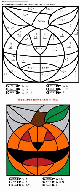 Addition Mystery Picture Worksheets Beautiful A Halloween Addition Mystery Picture