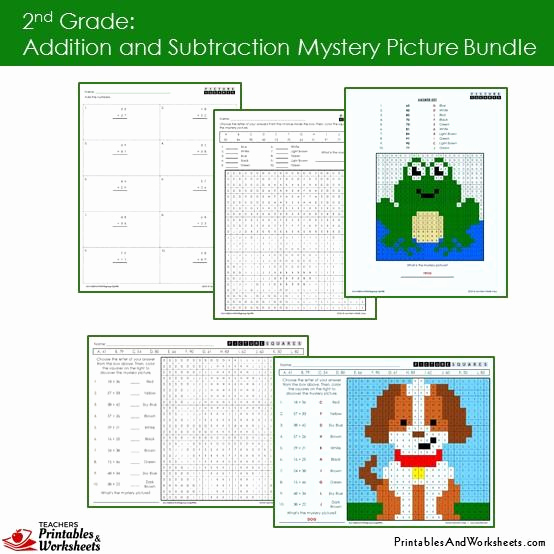 Addition Mystery Picture Worksheets Unique 2nd Grade Addition and Subtraction Mystery Picture