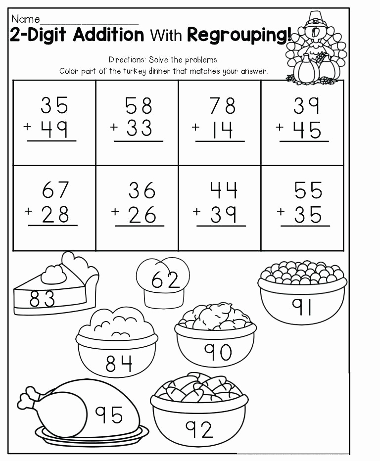 Addition with Regrouping Coloring Worksheets Elegant Addition with Regrouping Coloring Worksheets Printable