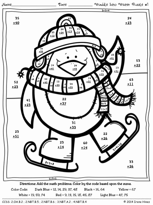 Addition with Regrouping Coloring Worksheets New 2 Digit Addition with Regrouping Coloring Pages Sketch