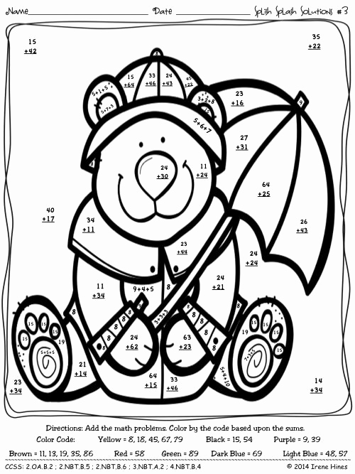 Addition with Regrouping Coloring Worksheets New 3 Digit Addition with Regrouping Coloring Sketch Coloring Page