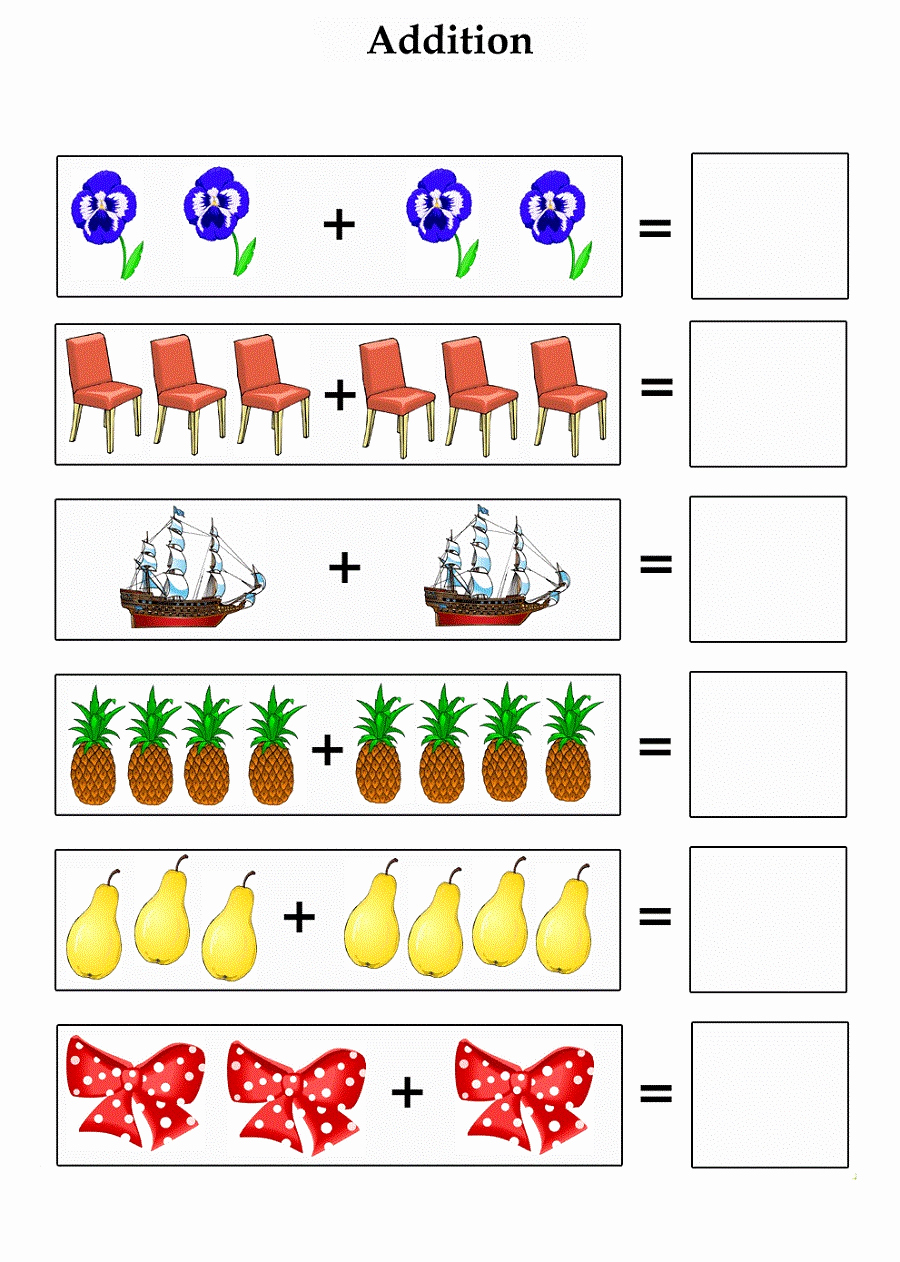 Addition Worksheets with Pictures Awesome Addition Worksheets with Up to 10