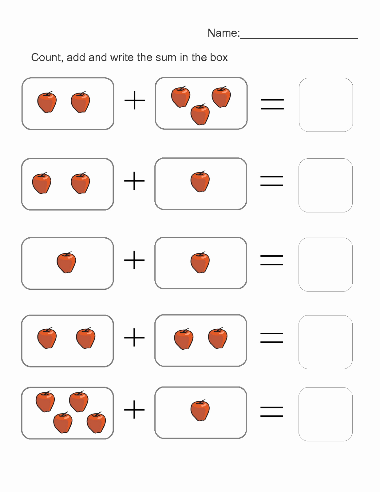 Addition Worksheets with Pictures Inspirational Picture Math Worksheets to Print