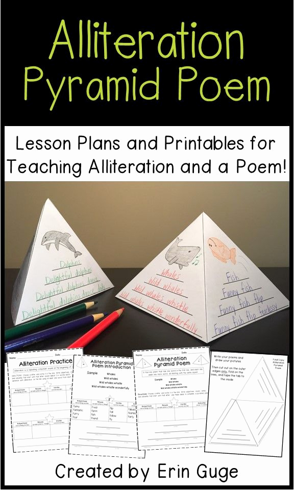 Alliteration Worksheets 4th Grade Lovely Alliteration Pyramid Poem Lesson Plans and Printables for