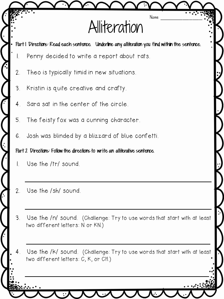 Alliteration Worksheets with Answers Beautiful Alliteration Anchor Chart Plus Freebie