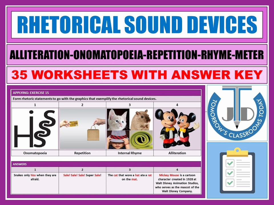 Alliteration Worksheets with Answers Best Of Alliteration Onomatopoeia Repetition Rhyme Meter 35