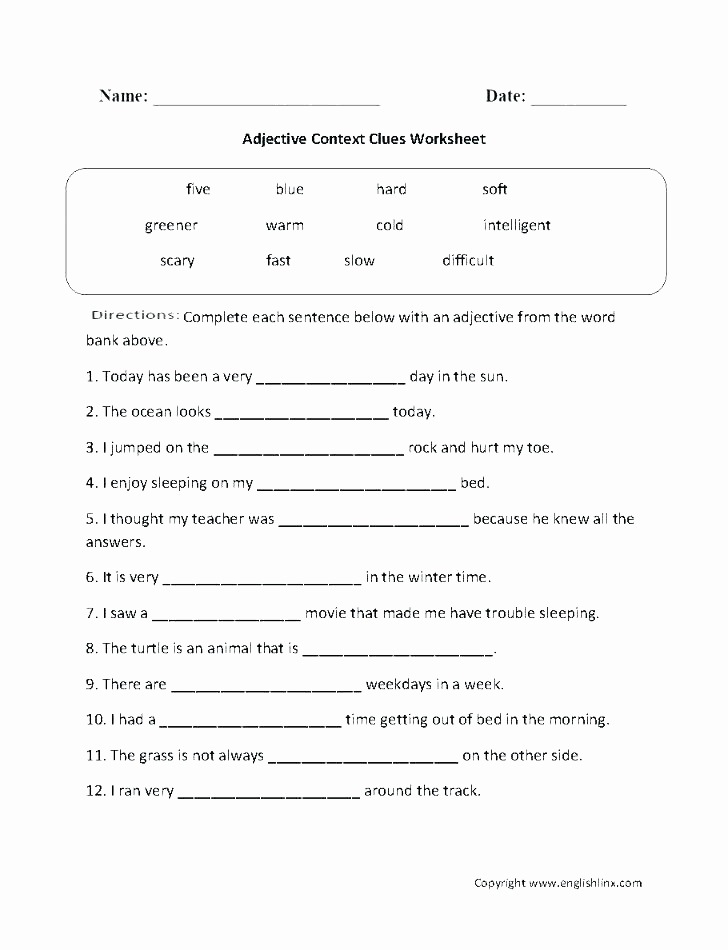 Alliteration Worksheets with Answers Fresh 5th Grade Context Clues Worksheets Snowtanye