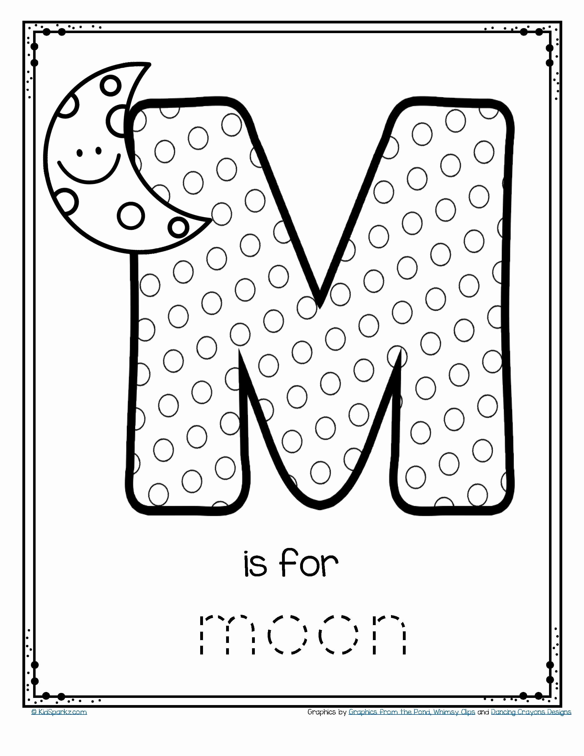 Aloha Math Worksheets New Aloha Math Worksheets Free M is for Moon Alphabet Letter
