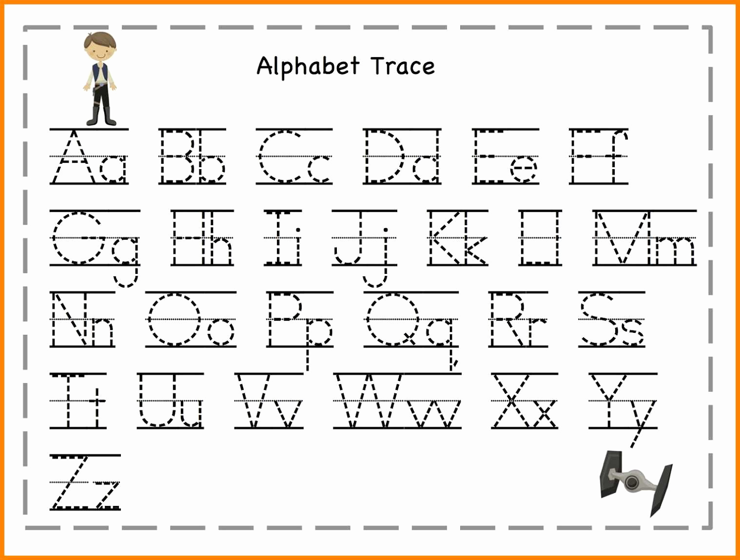 Alphabet Trace Worksheet Awesome Worksheets for Alphabets Tracing