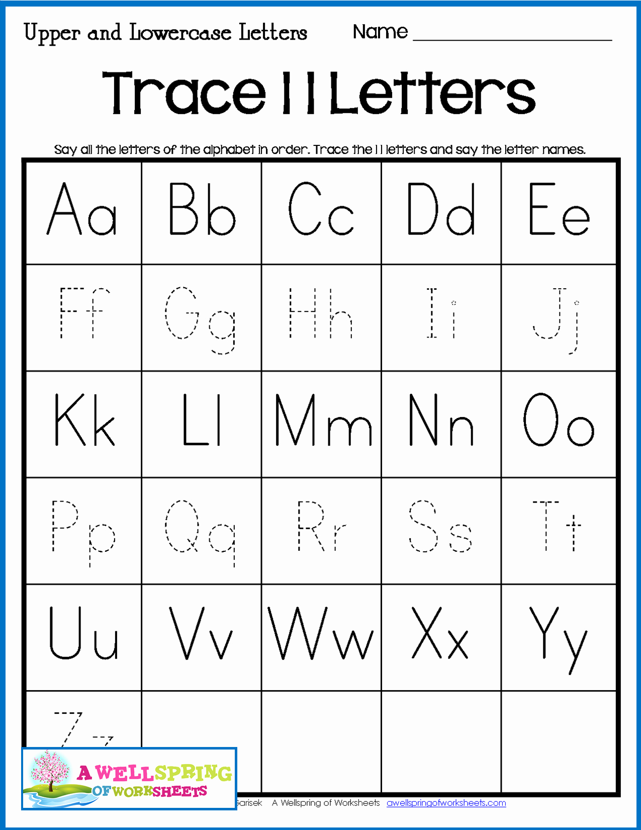 Alphabet Trace Worksheet Best Of Tracing Letters Name