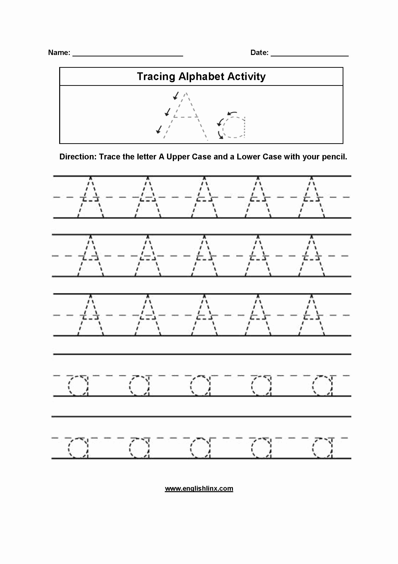 Alphabet Trace Worksheet Inspirational First Grade Alphabet Tracing Worksheets