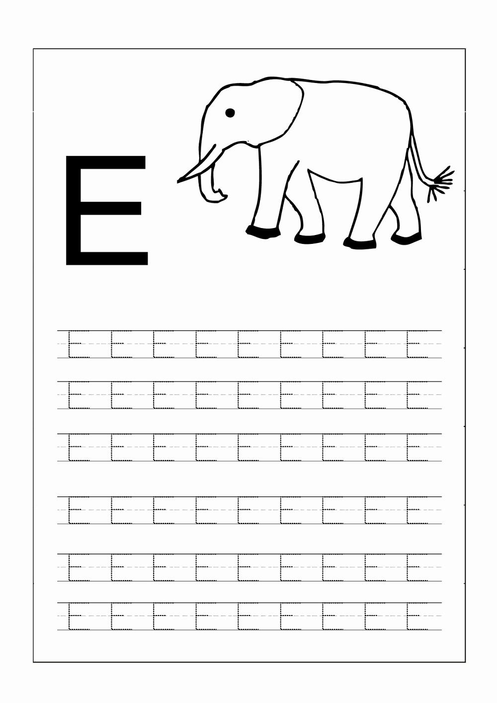 Alphabet Trace Worksheet Lovely Capital Alphabets Tracing Worksheets Printable