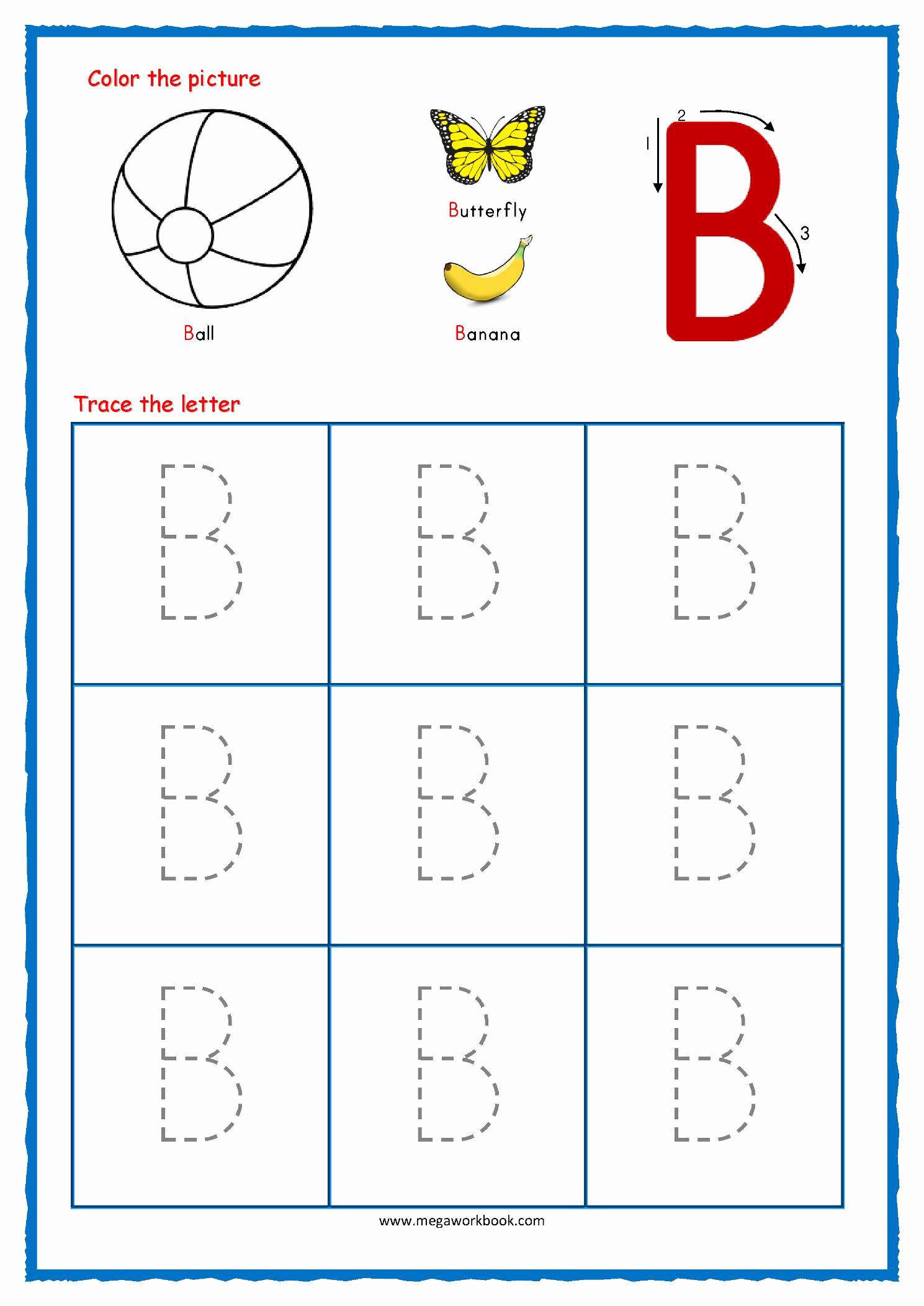 Alphabet Trace Worksheet Lovely Printable Worksheets Alphabet Tracing – Letter Worksheets
