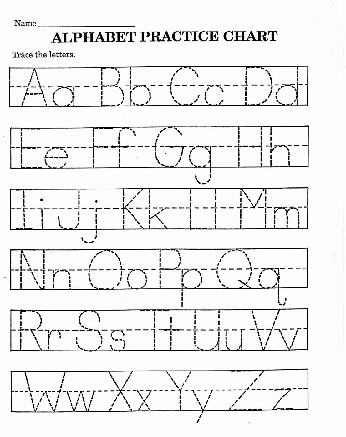 Alphabet Trace Worksheet Lovely Trace Letter Worksheets Free