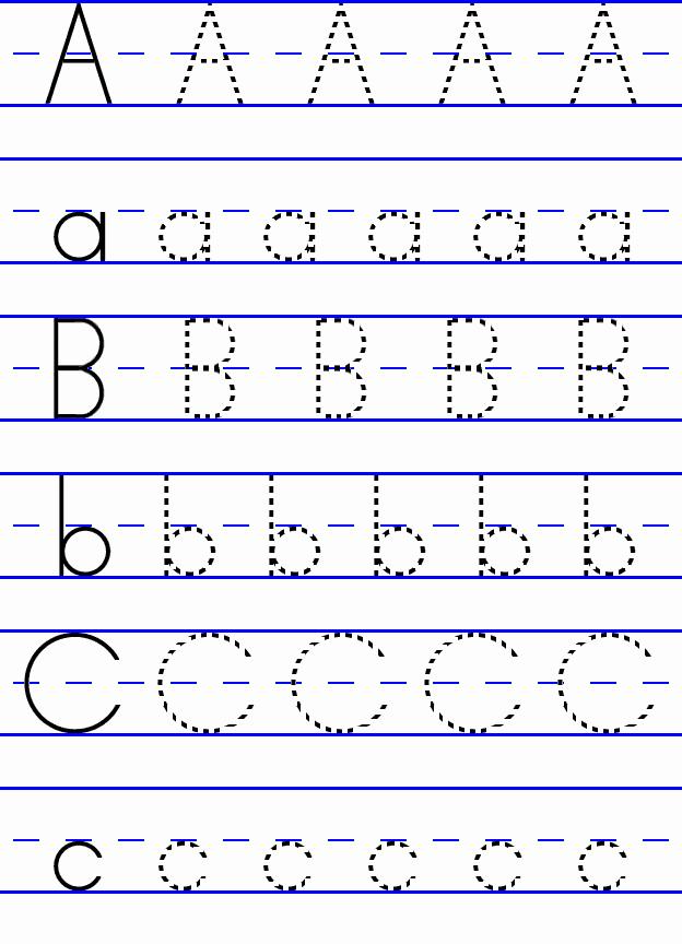 Alphabet Trace Worksheet Luxury Abc Tracing Worksheet