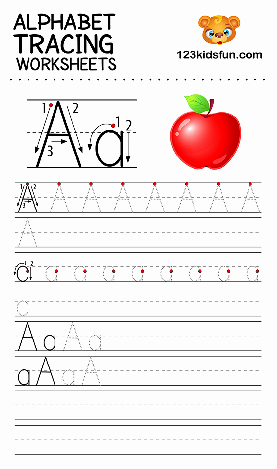 Alphabet Trace Worksheet Luxury Free Printable Alphabet Tracing Worksheets that are