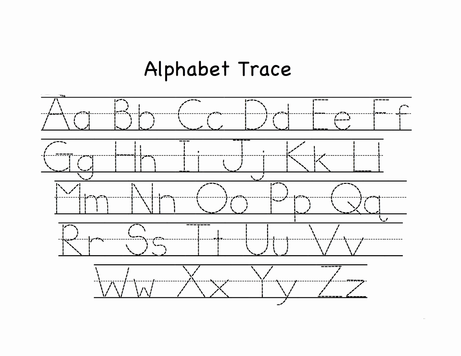 Alphabet Trace Worksheet Unique Preschool Tracing Worksheets Best Coloring Pages for Kids