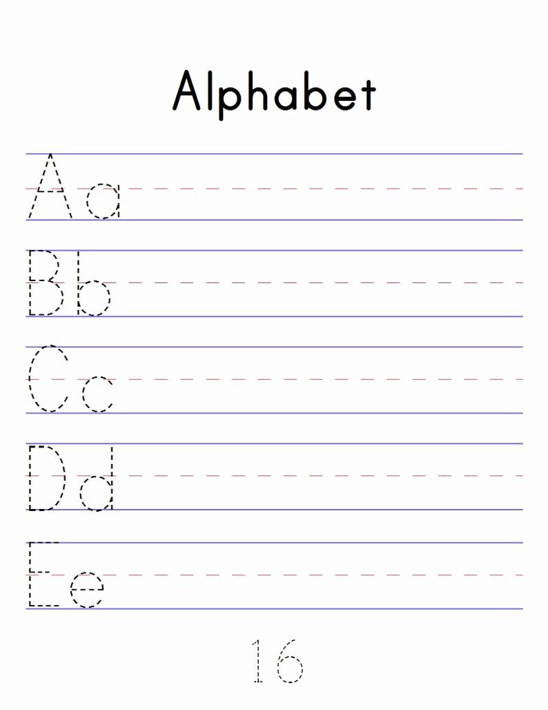 Alphabet Tracing Worksheets Pdf Awesome Alphabet Tracing Workbook Digital Printable Pdf Trace Abc