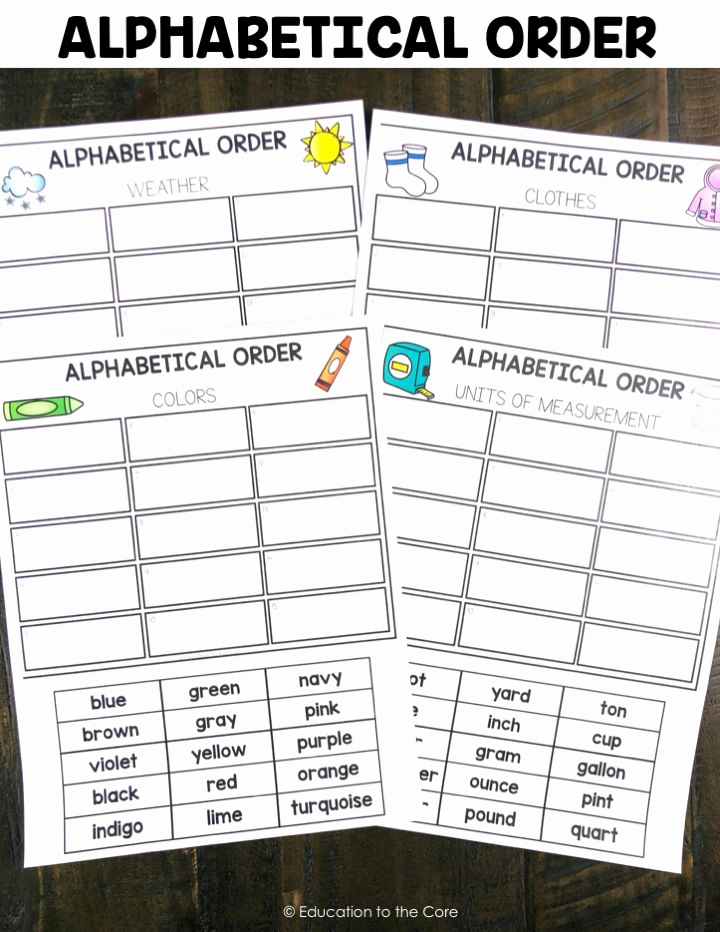 Alphabetical order Worksheets 2nd Grade Best Of 2nd Grade Literacy Centers for January