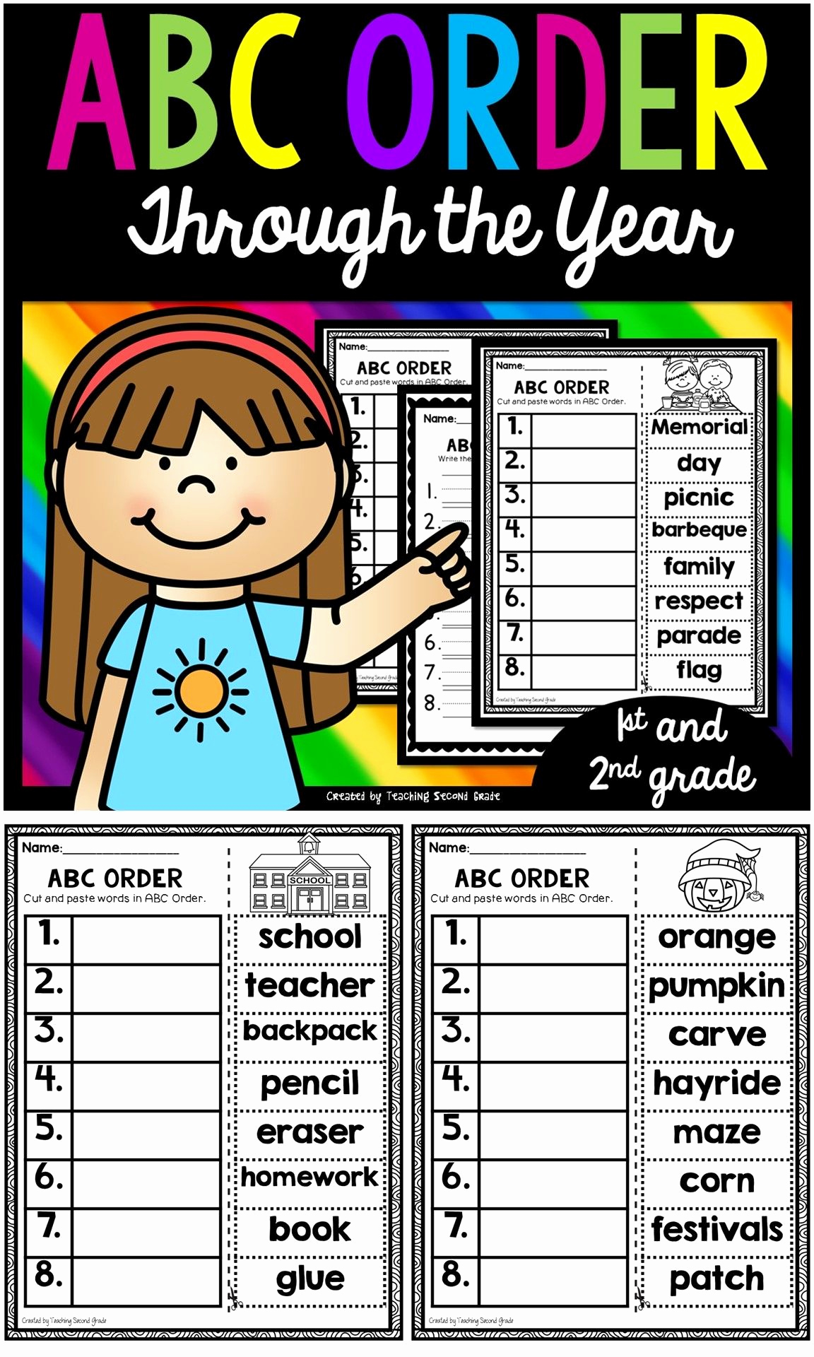 Alphabetical order Worksheets 2nd Grade Best Of Pin On Language Arts Pins