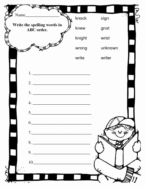 Alphabetical order Worksheets 2nd Grade Best Of Spelling Abc order Silent Letters Worksheet for 2nd Grade