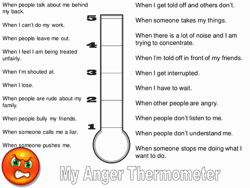 Anger thermometer Worksheet Awesome Anger thermometer by Lukeswillage Teaching Resources Tes