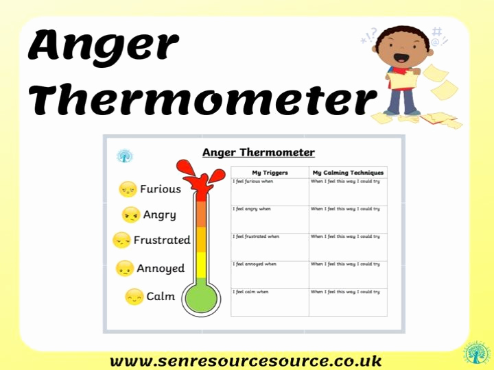 Anger thermometer Worksheet Beautiful Anger thermometer Worksheet