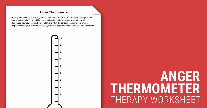 Anger thermometer Worksheet Lovely Anger thermometer Worksheet – Worksheets Samples