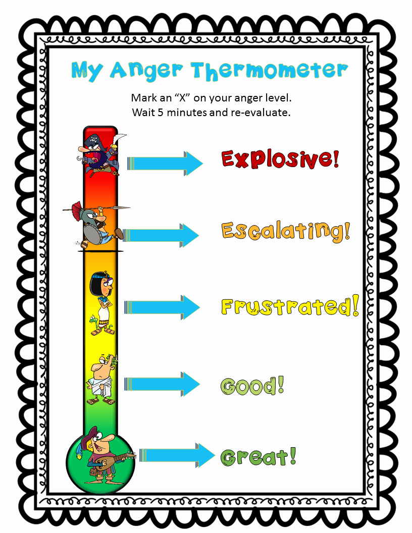 Anger thermometer Worksheet Lovely My Anger thermometer Just One Of the Handouts In the