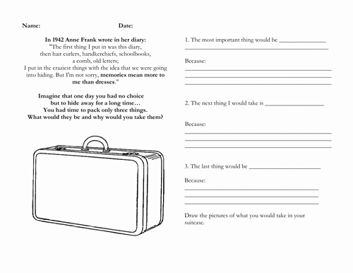 Anne Frank Worksheets Middle School Awesome Writing Anne Frank S Diary Lesson Plan Resources by