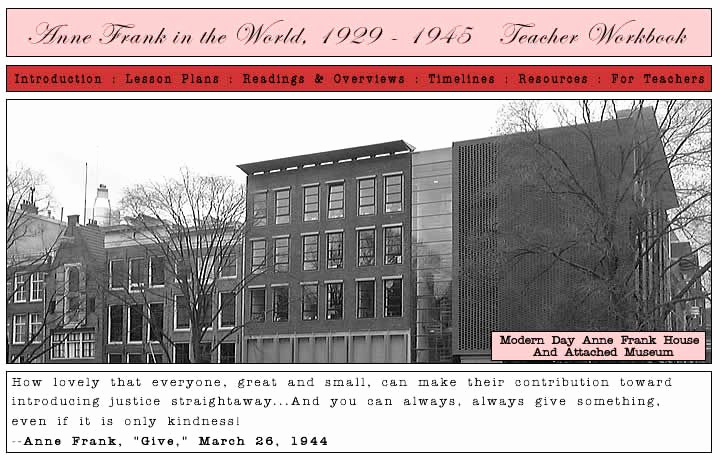 Anne Frank Worksheets Middle School Best Of Anne Frank Teacher Workbook Lesson Plans Readings