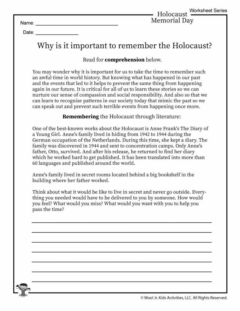 Anne Frank Worksheets Middle School Best Of Coloring Pages Free Printable Worksheets About the Holocaust