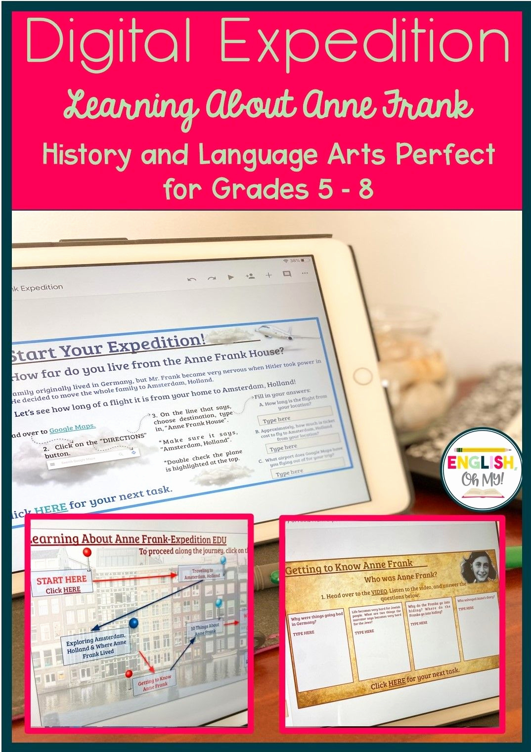 Anne Frank Worksheets Middle School Elegant Digital Expedition Learning About Anne Frank