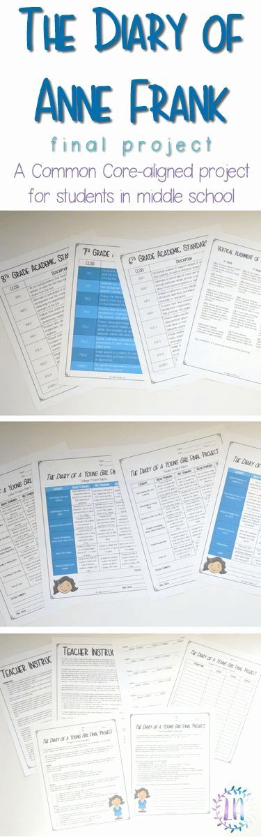 Anne Frank Worksheets Middle School Elegant the Diary Of Anne Frank Project for Distance Learning