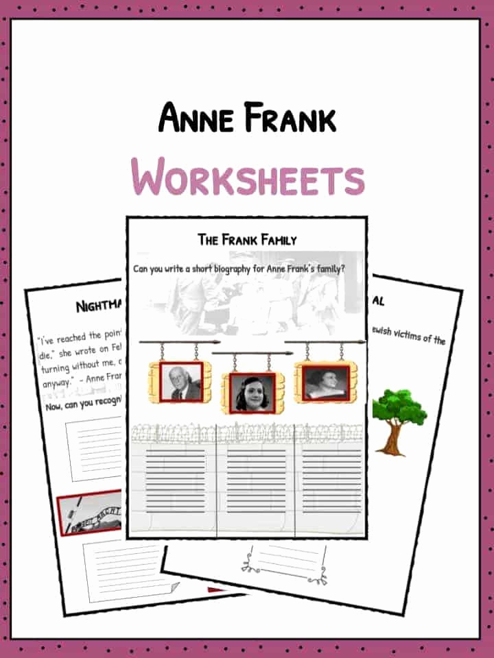 Anne Frank Worksheets Middle School Fresh Biography Book Report forms for 3rd Grade