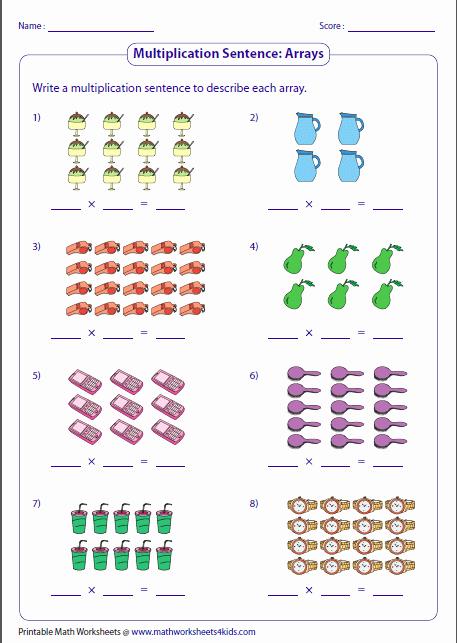 Arrays Worksheets Grade 2 Beautiful Printables Of Arrays Worksheet Year 2 Geo Kids