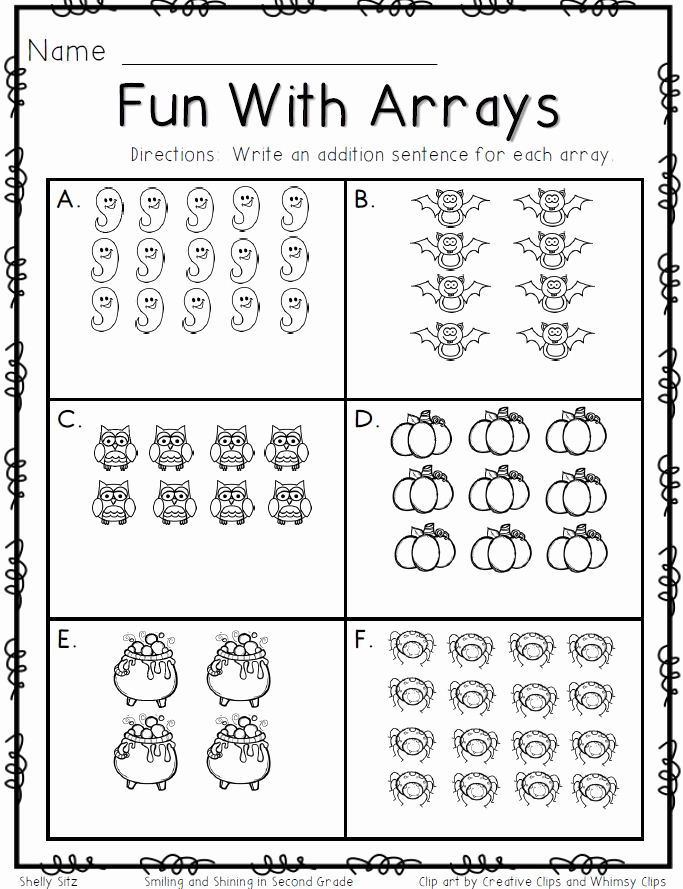 Arrays Worksheets Grade 2 Best Of Smiling and Shining In Second Grade Fun with Arrays