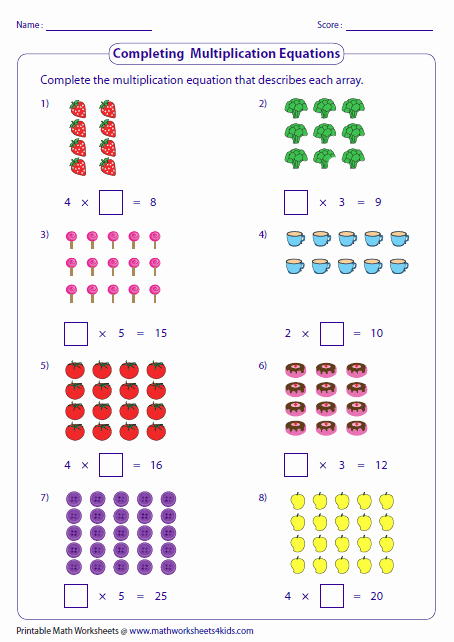 Arrays Worksheets Grade 2 Fresh 20 [pdf] Multiplication Arrays Grade 2 Worksheets Free