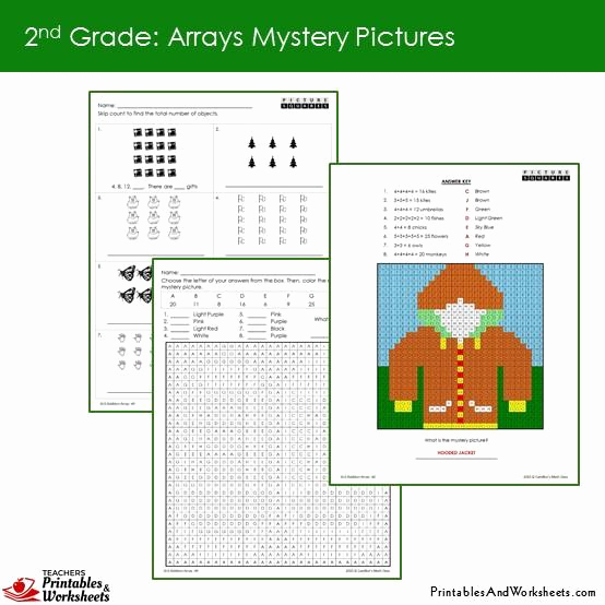 Arrays Worksheets Grade 2 Inspirational 2nd Grade Addition Array Mystery Coloring