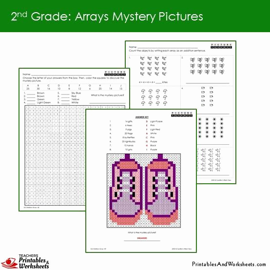 Arrays Worksheets Grade 2 Luxury 2nd Grade Addition Array Mystery Coloring