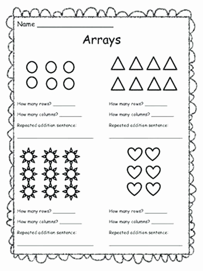 Arrays Worksheets Grade 2 Luxury Library Of Array Svg 2nd Grade Png Files Clipart