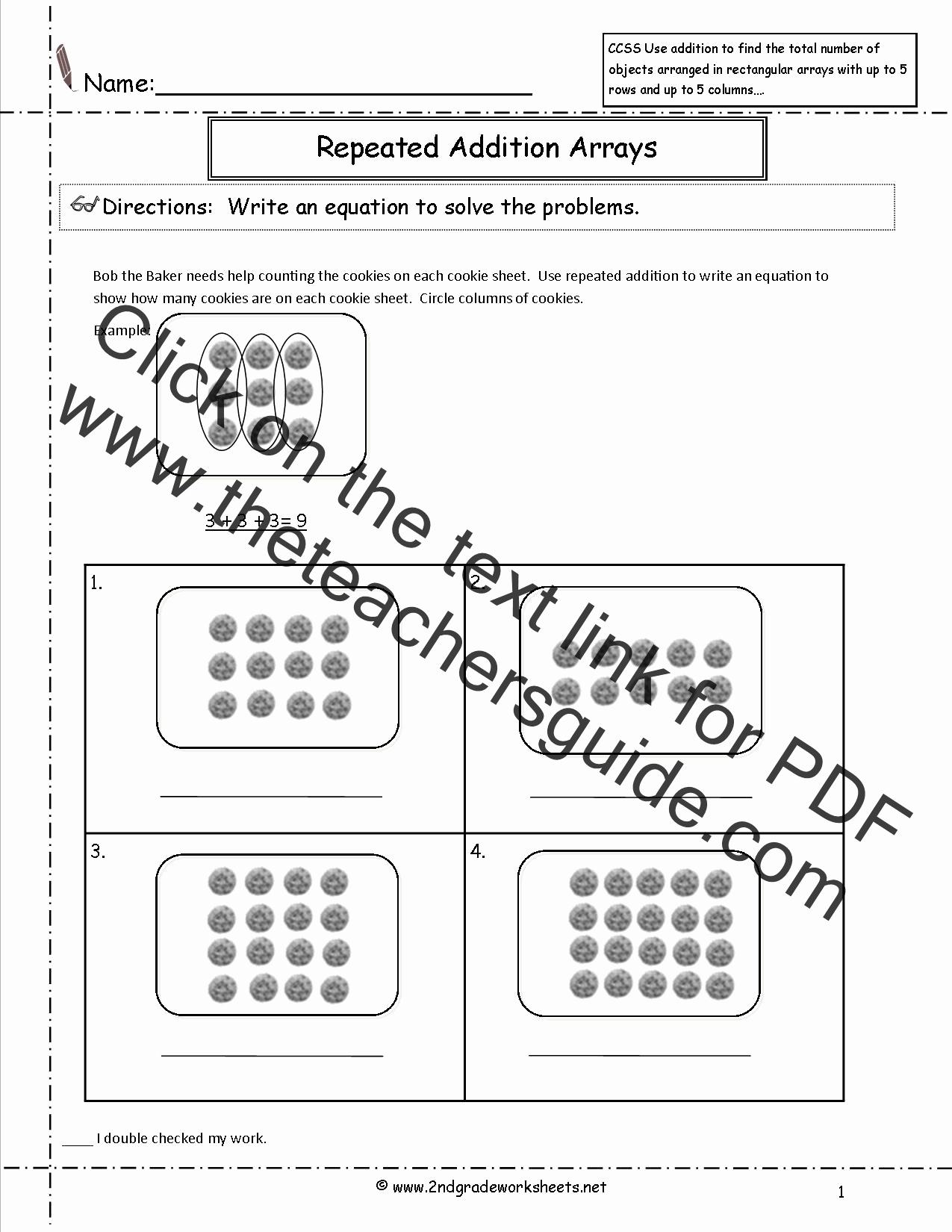 Arrays Worksheets Grade 2 Unique V Moncoreexamples