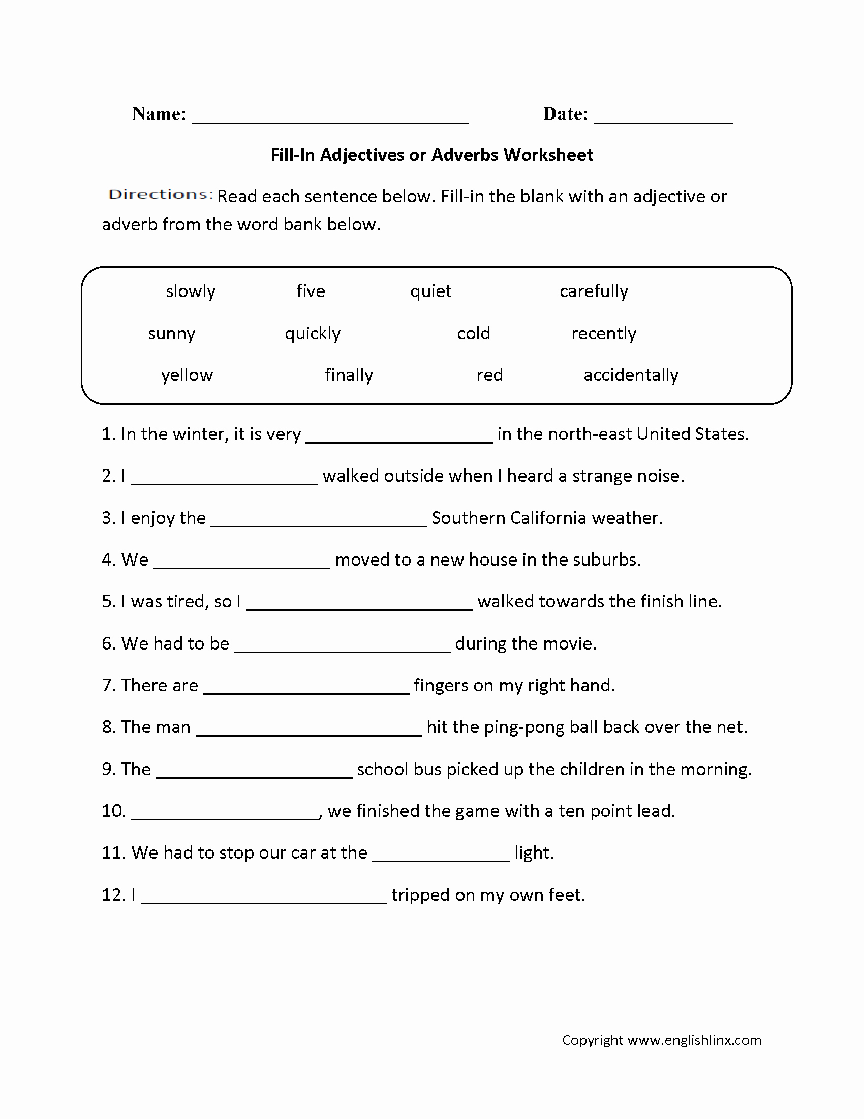 Bibliography Practice Worksheets Best Of 14 Best Of Adjectives Worksheets for Grade 5 as