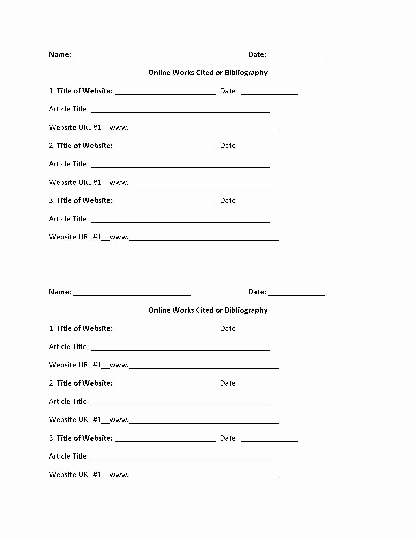 Bibliography Practice Worksheets Best Of Easily 20 Bibliography Practice Worksheets Worksheet