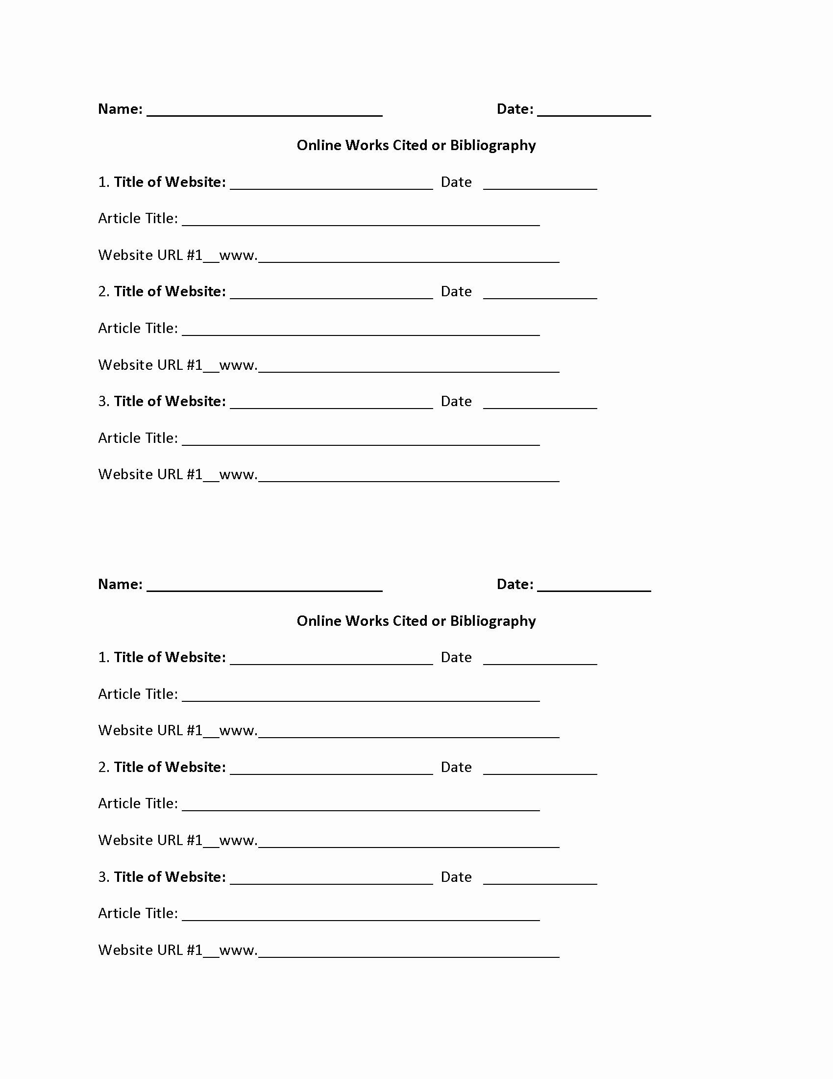 Bibliography Practice Worksheets Best Of Easily 20 Bibliography Practice Worksheets Worksheet