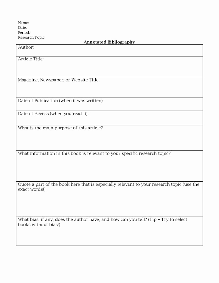 Bibliography Practice Worksheets Elegant Miss K S English 9 Annotated Bibliography Worksheet