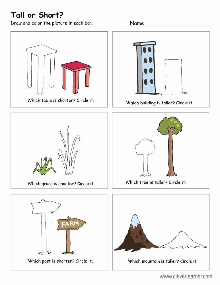 Big Vs Little Worksheets Elegant Big Vs Little Worksheets Free Printable Worksheets