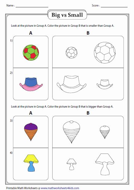 Big Vs Little Worksheets Lovely Big Vs Small Worksheets