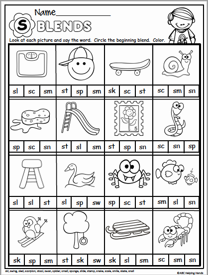 Blends Worksheet for First Grade Awesome Spring Math and Literacy Packet for 1st Grade Madebyteachers
